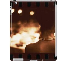 Sensual young lady in wedding black and white sepia 35mm photo iPad Case/Skin