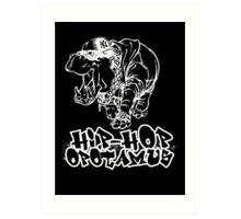 Hip Hop Opotamus (Inverted) Art Print