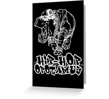 Hip Hop Opotamus (Inverted) Greeting Card