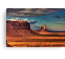 Dusk at Monument Valley Canvas Print