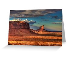 Dusk at Monument Valley Greeting Card