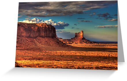 Dusk at Monument Valley by njordphoto