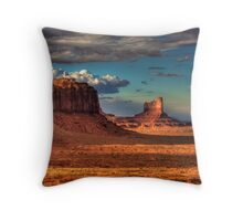 Dusk at Monument Valley Throw Pillow