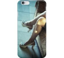 Sensual young lady short skirt high heels wedding c41 35mm analog photo iPhone Case/Skin