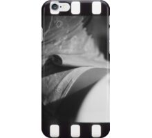 Sensual young lady in short skirt in wedding black and white slide film 35mm analog iPhone Case/Skin