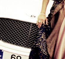 Sensual young lady 69 Sixty Nine Bentley sports car Marbella Sticker