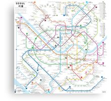 Seoul metro map Canvas Print