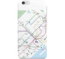Barcelona metro map iPhone Case/Skin