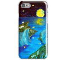 Moonlit seascape iPhone Case/Skin