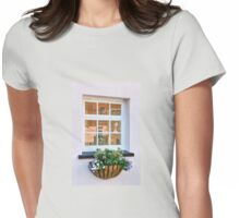 Cottage Window Reflections Womens Fitted T-Shirt