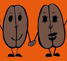 Mr and Mrs Coffee Bean by Anne van Alkemade
