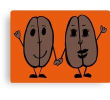 Mr and Mrs Coffee Bean Canvas Print