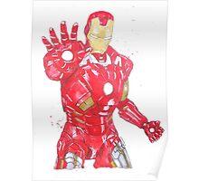Iron Man Watercolour Illustration Painting Poster