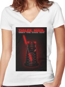 Dalek Maul Women's Fitted V-Neck T-Shirt