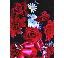 PLASTIC FLOWERS FROM CEMETERIES Photographic Print