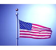 AMERICAN FLAG IN THE SKY Photographic Print