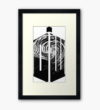 Doctor Who - Swirly Framed Print