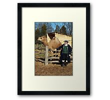 George Washington and his Camel Aladdin Framed Print