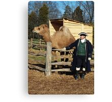 George Washington and his Camel Aladdin Canvas Print