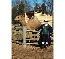 George Washington and his Camel Aladdin Photographic Print