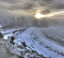 Snow Fog at Dawn by Nancy Richard