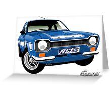 Ford Escort mk 1 RS1600 blue Greeting Card