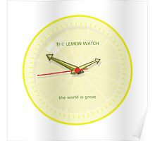 THE LEMON WATCH Great Yellow Poster