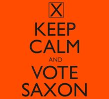 Keep Calm and Vote Saxon Kids Tee