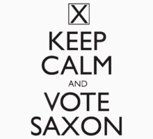 Keep Calm and Vote Saxon One Piece - Short Sleeve