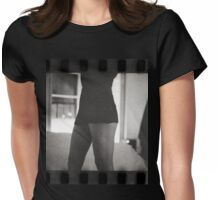 Young lady in bedroom 35mm analog silver gelatin photograph Womens Fitted T-Shirt