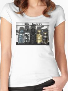 The Usual Daleks Women's Fitted Scoop T-Shirt