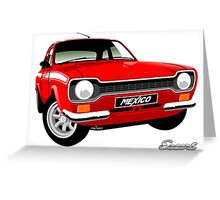 Ford Escort mk 1 Mexico red Greeting Card