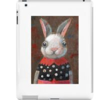 White Rabbit Girl iPad Case/Skin