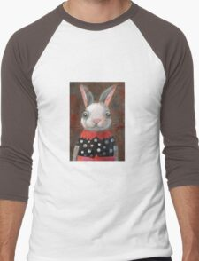 White Rabbit Girl Men's Baseball ¾ T-Shirt