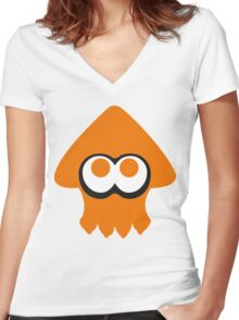 Spaltoon - Inkling logo Women's Fitted V-Neck T-Shirt