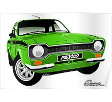 Ford Escort mk 1 Mexico green Poster