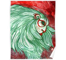 Monkey Mask Watercolor Painting Poster