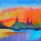Fiery Sunset by WienArtist