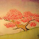 Lonely Cherry Tree by WienArtist