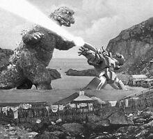 Godzilla vs Galvatron by Striss