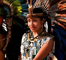 Native Female Mexican Indian Dancer by Swede