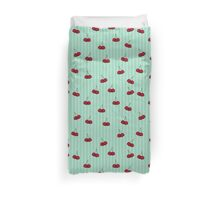 Cheery Cherries and Stripes Duvet Cover