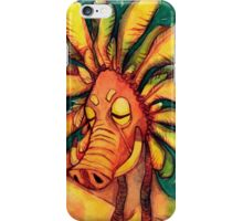 Abstract Pig Mask Watercolor Painting iPhone Case/Skin