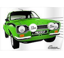 Ford Escort special build Mexico green Poster