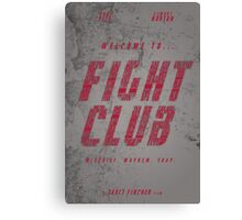 Fight Club Rules Canvas Print