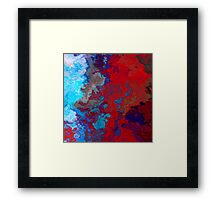 Blue Red Noise Texture Framed Print