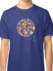 Whimsical Colorful Spring Flowers Pop Tree Classic T-Shirt