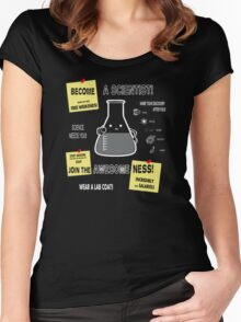 Become A Scientist Women's Fitted Scoop T-Shirt
