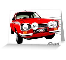 Ford Escort special build Mexico red Greeting Card