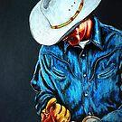 Chisholm...Portrait Of A Cowboy by Susan Bergstrom